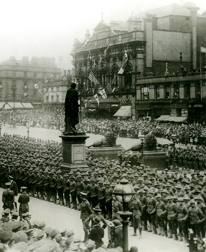WW1 St Georges Hall Plateau - the troops returning